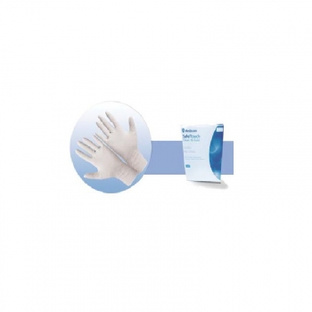 Стерильные перчатки текстурированные с пудрой Safetouch Clean Bi-Fold, размер 8, 50 пар | Venko