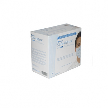 Маски защитные Safe+mask SofSkin Antifog для чувствительной кожи, на завязках, 50 шт | Venko