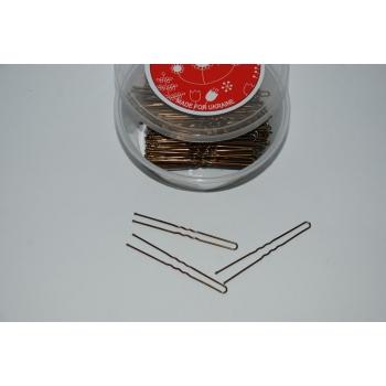 Шпильки для волос коричневые  350 шт/7,5см | Venko