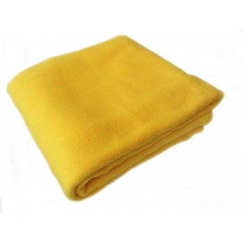 Одеяло - плед (махра-флис) 1,6-2 м, желтый | Venko