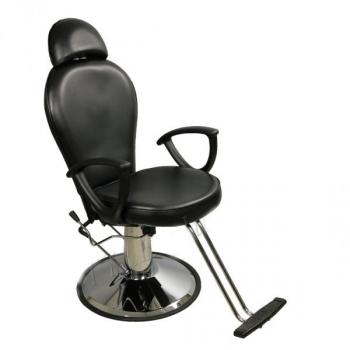 Парикмахерское кресло с подголовником S346В Черное | Venko