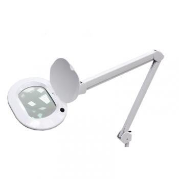 Лампа лупа 6028 LED 3D настольная (3 диоптрии) цвет: белый | Venko