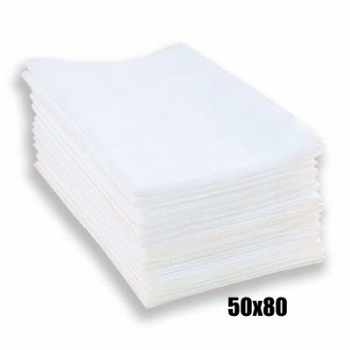 Полотенце одноразовое нарезное 50x80 50шт/уп(гладкий)ПМ