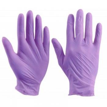 Перчатки нитриловые не опудренные фиолетовые S, 100 шт/уп imt