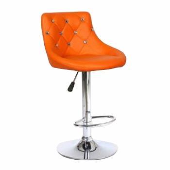 Стілець барний хокер HC931W помаранчевий | Venko