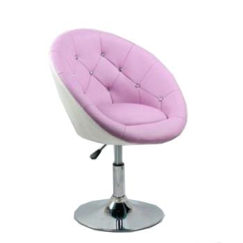 Парикмахерское кресло HC-8516 лавандово-белое | Venko