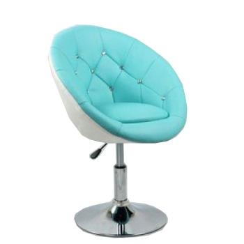 Парикмахерское кресло HC-8516 бирюзово-белое | Venko