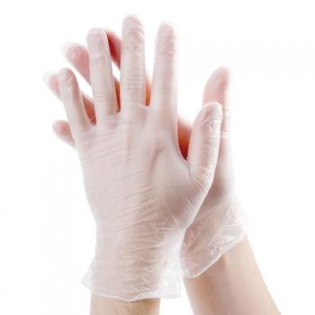 Виниловые перчатки опудренные S Polix PRO & MED, 100 шт | Venko