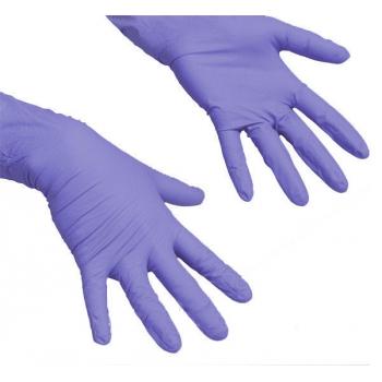 Перчатки нитриловые неопудренные фиолетовые L Polix PRO & MED, 100 шт | Venko