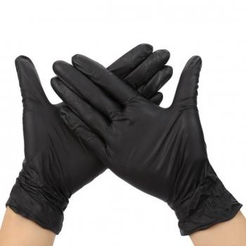 Перчатки нитриловые неопудренные черные S Polix PRO & MED, 100 шт | Venko