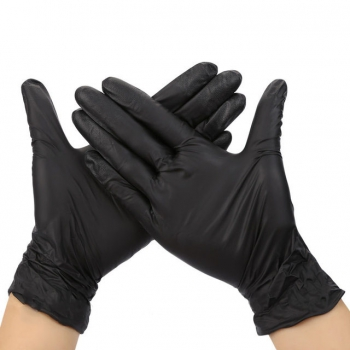 Перчатки нитриловые неопудренные черные М Polix PRO & MED, 100 шт | Venko