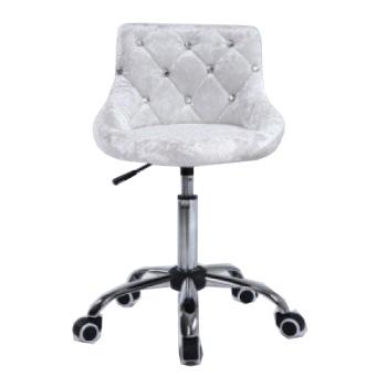 Косметическое кресло HC931K серебросто-белый велюр | Venko