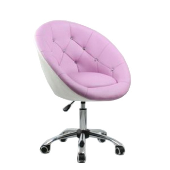 Косметическое кресло HC-8516K лавандово-белое | Venko