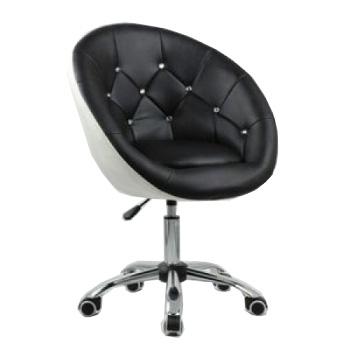 Косметическое кресло HC-8516K черно-белое | Venko