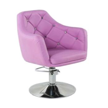 Кресло парикмахерское HC830H лавандовое ГИДРАВЛИКА   Venko