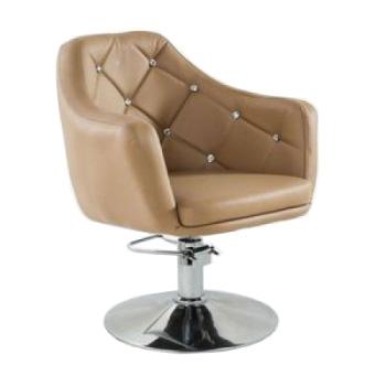 Кресло парикмахерское HC830H карамель ГИДРАВЛИКА | Venko