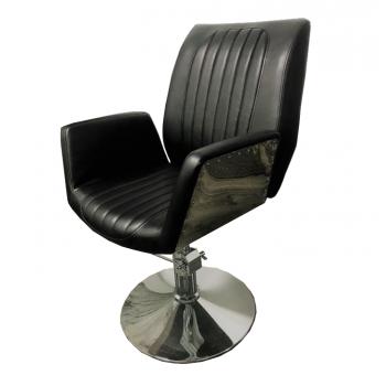 Кресло парикмахерское Infinity на гидравлике хром | Venko