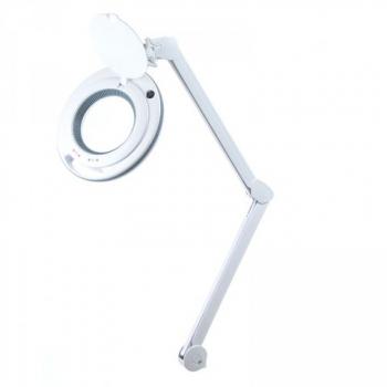 6017-H LED 3D Лампа-лупа настольная, цвет: белый.С РЕГУЛИРОВКОЙ ЯРКОСТИ.