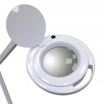 Лампа-лупа настольная 6017-H 5D 9W,серебристый ободок. Холодный свет | Venko
